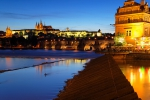 Prague Castle and Charles Bridge at Dusk ~ Prague, Czech Republic