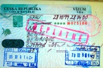 Czech Republic visa and stamps